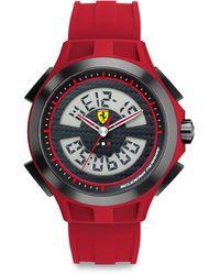 Scuderia Ferrari - Lap Time Stainless Steel Watch - Lyst