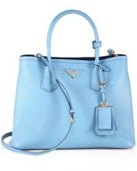 Prada - Saffiano Cuir Medium Double Bag - Lyst