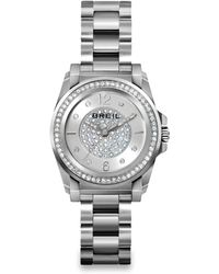 Breil - Manta Crystal & Stainless Steel Bracelet Watch - Lyst