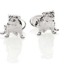 David Donahue - Sterling Silver Bull Dog Cuff Links - Lyst
