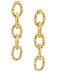 Sylvia Toledano Xl Links 22k Goldplated Linear Earrings - Metallic