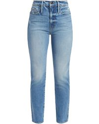 FRAME Le Sylvie High-rise Crop Straight Jeans - Blue