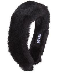Apparis Teffi Lightweight Faux Fur Headband - Black