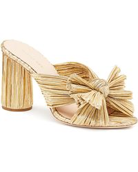 Loeffler Randall - Penny Pleated Knotted High Heel Sandals - Lyst