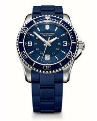 Victorinox Maverick Gs Rubber Strap Watch - Blue