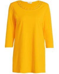 Joan Vass Cutout Slit Tunic - Yellow