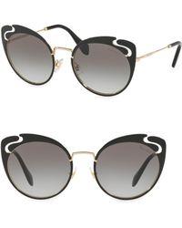 Miu Miu - 54mm Cut-out Butterfly Sunglasses - Lyst