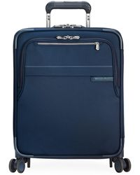 Briggs & Riley Baseline International Expandable Wide-body Spinner Carry-on - Blue