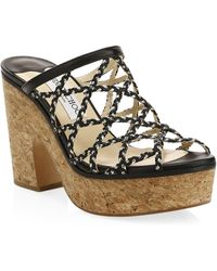 Jimmy Choo - Dalina Braided Leather Mesh Mule Sandals - Lyst
