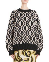 Dries Van Noten - Long Sleeve Geometric Sweater - Lyst