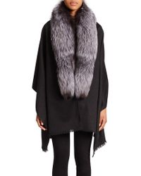 Annabelle New York - Fox Fur, Cashmere & Wool Wrap - Lyst