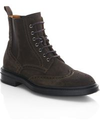 Aquatalia - Lawrence Suede Wingtip Boots - Lyst