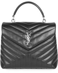 Saint Laurent - Lou Lou Leather Top Handle Bag - Lyst