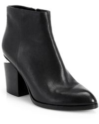 Alexander Wang Gabi Ankle Booties With Rose Gold Hardware - Black