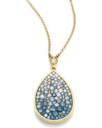 Plevé - Marine Ombré Diamond & 18k Yellow Gold Pear-shape Pendant Necklace - Lyst