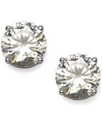 Adriana Orsini - Brilliant-cut Sterling Silver Stud Earrings - Lyst