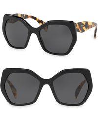 Prada - 56mmtinted Tortoise Sunglasses - Lyst