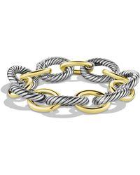 David Yurman 'oval' Extra-large Link Bracelet With Gold - Metallic