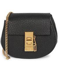 Chloé Mini Drew Leather Backpack - Black