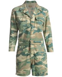 Mother Camouflage Fixer Romper - Green