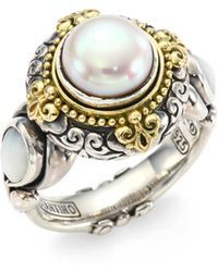 Konstantino - Mother-of-pearl Ring - Lyst
