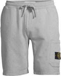 Stone Island Core Fleece Shorts - Gray