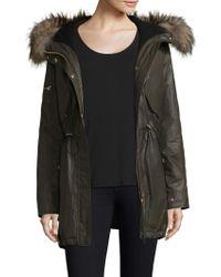 Sam. - Long Hudson Military Raccoon Fur Coat - Lyst