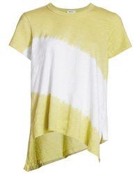 Wilt Double Dip High-low T-shirt - Yellow