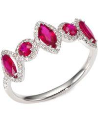 Meira T - Diamond & Ruby Ring - Lyst