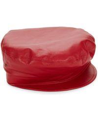 Eric Javits - Night Porter Leather Cap - Lyst