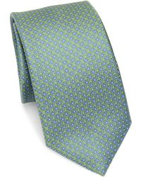 Saks Fifth Avenue | Collection Neat Square Silk Tie | Lyst