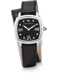 David Yurman - Albion 27mm Leather Swiss Quartz Watch With Diamonds - Lyst