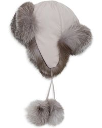 8b69c7cddd2 Saks Fifth Avenue - Collection Fox Fur-lined Pom Pom Trapper Hat - Lyst