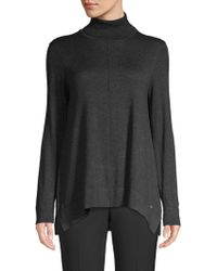 Donna Karan - Trapeze Turtleneck Top - Lyst