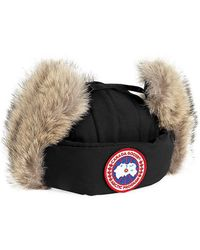 Canada Goose Fur-Lined Aviator Hat - Black