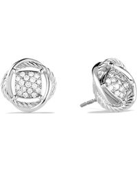 David Yurman - Infinity Earrings With Diamonds - Lyst