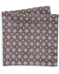 Saks Fifth Avenue - Collection Medallion Houndstooth Pocket Square - Lyst