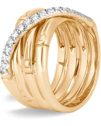4e9876cbbf2f2 Gucci Bamboo Ring In Yellow Gold - Lyst