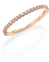 De Beers | Aura Pink Diamond & 18k Rose Gold Band Ring | Lyst