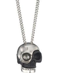 Alexander McQueen - Men's Divided Skull Pendant - Lyst