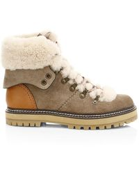 See By Chloé Shearling Trek Boots - Multicolor
