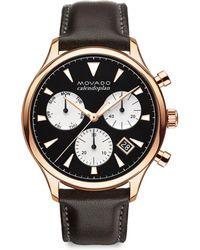 Movado - Heritage Series Calendoplan Chronograph Watch - Lyst