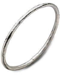 Ippolita Glamazon Sterling Silver #1 Bangle Bracelet - Metallic