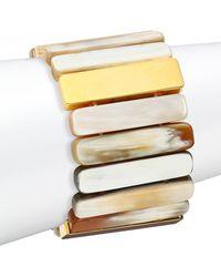 Nest - Sleek Horn Stretch Bracelet - Lyst