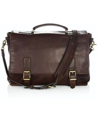 Frye Logan Top-handle Soft Leather Briefcase - Brown