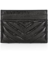 Rebecca Minkoff - Edie Leather Card Case - Lyst