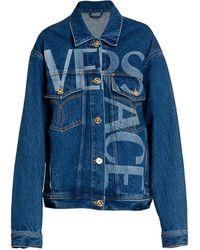 Versace Logo Denim Jacket - Blue