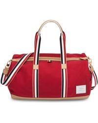 Thom Browne Men's Removable Strap Gym Bag - Red
