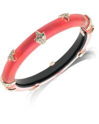 Alexis Bittar - Skinny 10k Gold Crystal Hinge Bracelet - Lyst