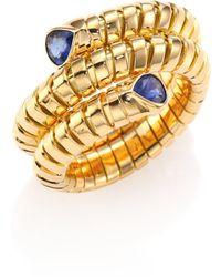 Marina B - Trisola Sapphire & 18k Yellow Gold Coil Ring - Lyst
